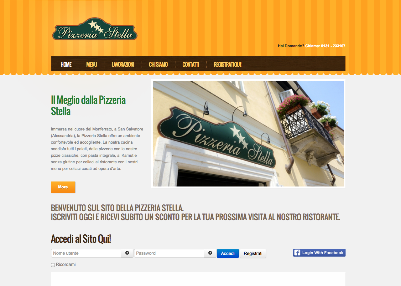 Pizzeria Stella Screenshot